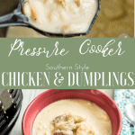 Pressure Cooker Chicken and Dumplings: The Fervent Mama - I adapted a pressure cooker version of this southern classic. And of course, everything tastes better pressure cooked, especiallyPressure Cooker Chicken and Dumplings.
