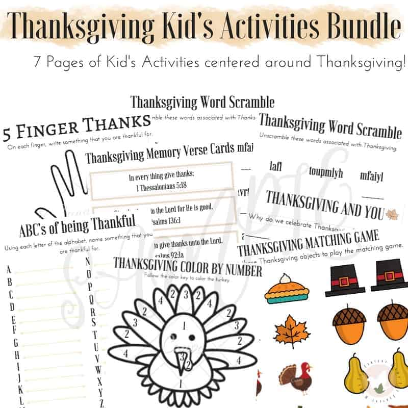 7 FREE Thanksgiving Kid's Activities for all ages! Be sure to add these fun Thanksgiving Activities to your family's traditions!