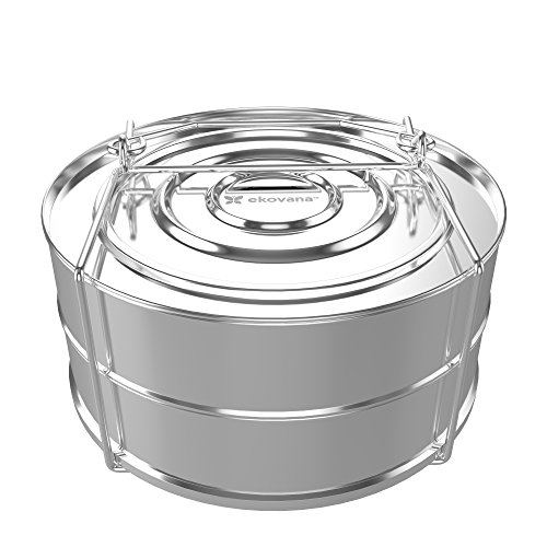 ekovana Stackable Stainless Steel Pressure Cooker Steamer Insert