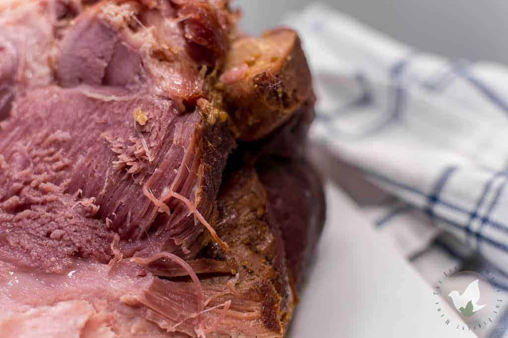 Pressure Cooker Ham that is fall apart Tender and so sweet: The Fervent Mama - If you're looking to change up your Holiday Dinner Menu Plan this year, think twice about the spiral ham and go ahead and make this Pressure Cooker Ham!