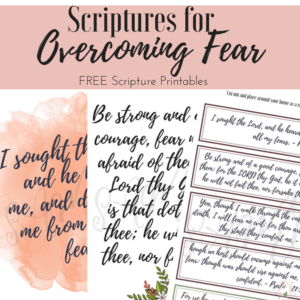 Scriptures for Overcoming Fear Prints