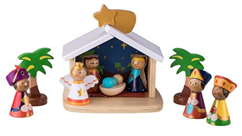 Children's 10 Piece Nativity Scene by Clever Creations