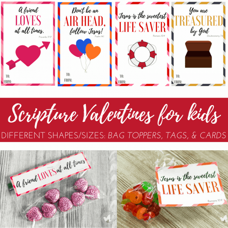 Fun Scripture Valentines Printable for Kids