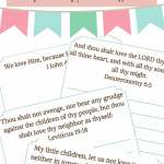 Bring Christ and scripture into your Valentine's Day with these Valentine's Day Scripture Copywork Pages for kids! 14 pages of scriptures for kids to copy that will help with memorization of scripture and penmanship!