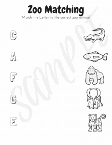Zoo Animals Pre K Workbook: The Fervent Mama- This all-new workbook for little learners includes 25 pages of fun; tracing, coloring, graphing, matching, smaller vs larger, write the letter, andmore! This Zoo Animals Pre K Workbook is made particularly for children who are just beginningto express interest in learning with just a few advanced pages.#homeschooling #homeschool #homeschoolprintables #prekprintables #preklearning #prekanimals #animalsworkbook