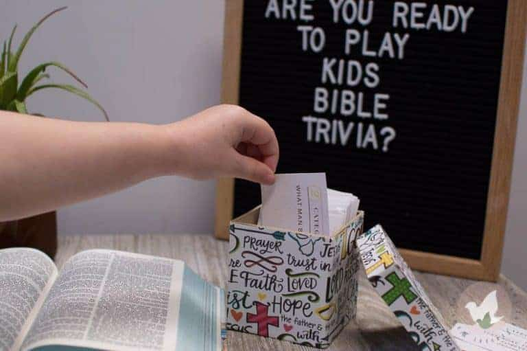 Learn about the Bible through play with our Family Bible Trivia Game