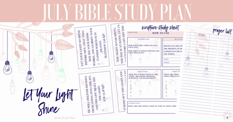 July Bible Study: Let Your Light Shine 31 Day Bible Reading Plan