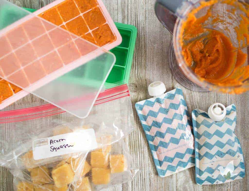 Practical Tips for Storing Homemade Baby Food - The Fervent Mama: It doesn't matter if you're in a bind and need to make your own baby food to save money, or if you're just wanting to give your baby a more health-conscious option! Making your own baby food, and then storing homemade baby food isn't a hassle when you've got the right tools!#homemadebabyfood #pressurecookerrecipes