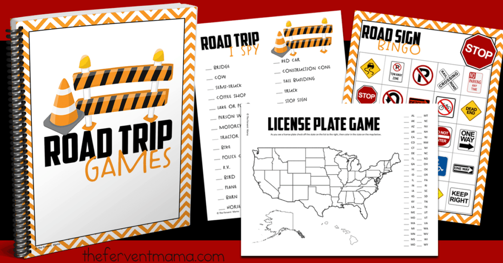 How do you prepare for a road trip with kids? - The Fervent Mama: I love the air and I love to fly, but it's not always feasible. Planning a road trip with kids is a whole other story- get our FREE Road Trip Games Printable! #roadtrip #roadtripgames