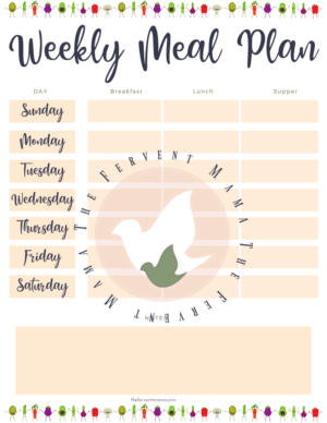 Grocery List & Meal Plan Bundle with Bonus Recipe Cards