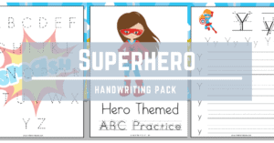 Superhero Handwriting Pack (ABC Practice)