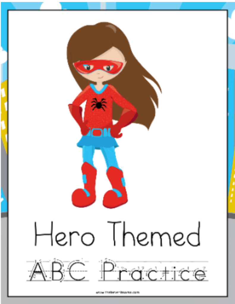 Practicing ABC's? Try this Superhero Handwriting Pack! - The Fervent Mama: This Superhero Handwriting Printable Pack is perfect for your little learners who are superhero obsessed too! It never fails that homeschooling provides so many advantages. #handwriting #freecurriculum