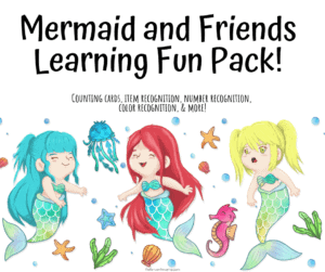 Mermaid and Friends Learning Fun Pack!