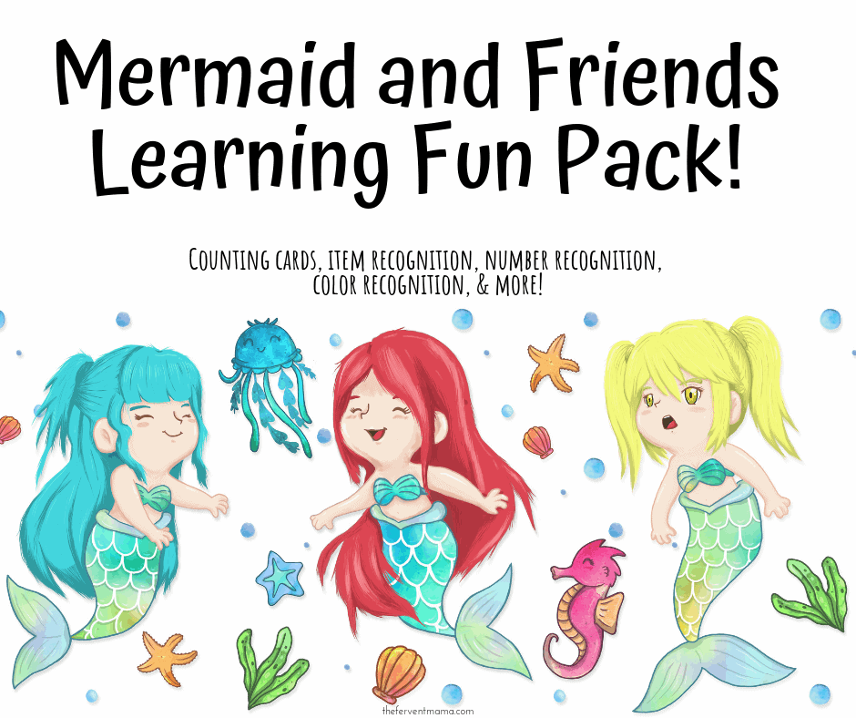 Learning Fun with Mermaid Worksheets for Kids - The Fervent Mama: This simple pack is 16-pages long and covers a variety of recognition topics. We're calling it Mermaid and Friends Learning Fun because we've included other creatures and objects found in the ocean!