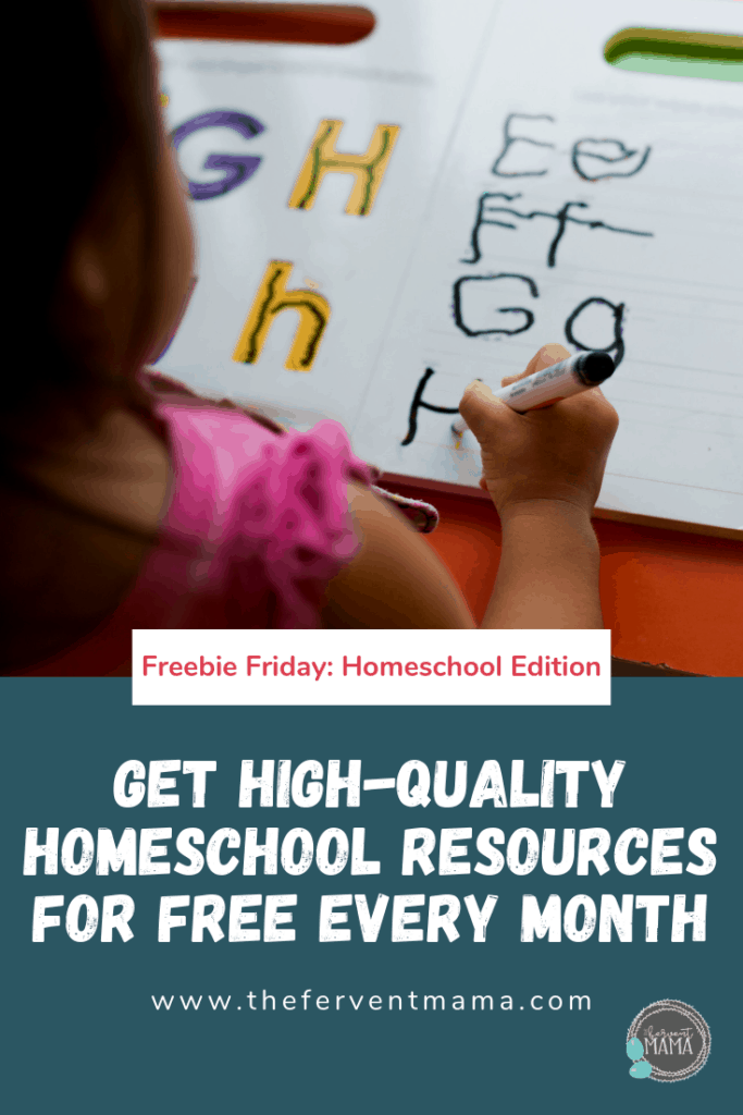 Massive List of Homeschool Freebies: The Fervent Mama - I'm about to give you a MASSIVE list of FREE homeschool resources. And when I say that, I don't mean rinky-dink junk. I mean high-quality stuff that you'll love to use and apply in your own schooling. And it's not just a one-time offer. This is a monthly offer that changes with each receipt. #homeschoolresources #homeschoolforfree