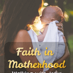 "Walking with Jesus After a New Baby - The Fervent Mama: 99% of the time ""quiet time"" with Jesus isn't what we thought it would be. So where does that leave us? We want to fill up on Jesus to pour out onto our kids, but how, when motherhood demands so much?"