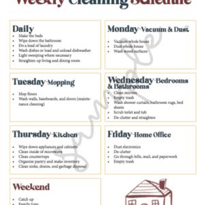 Photo of the Homeschool Mom Home Management Checklist