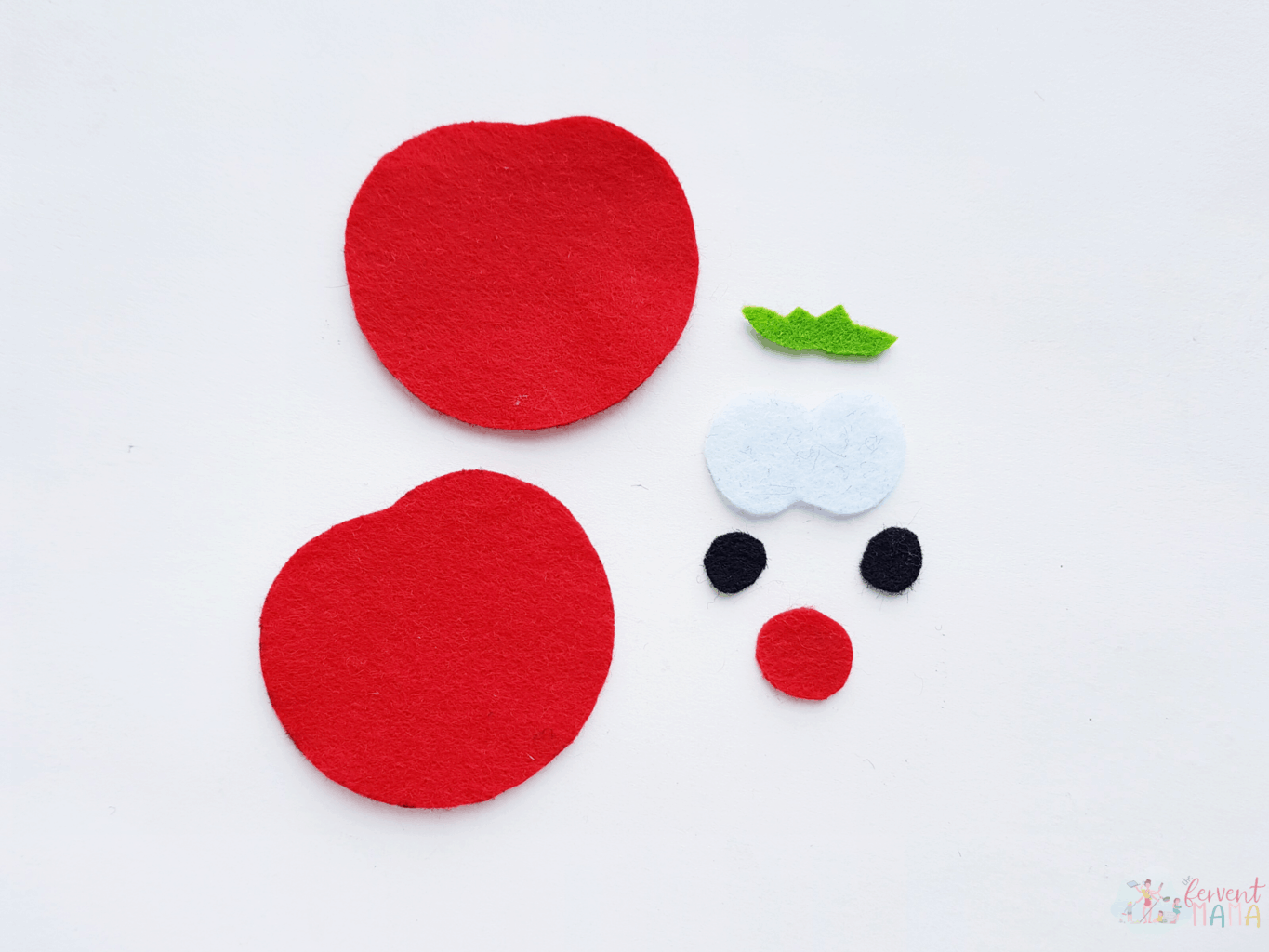 Felt cutouts from the VeggieTales Plushies Printable Template