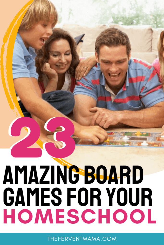 family playing game with text overlay