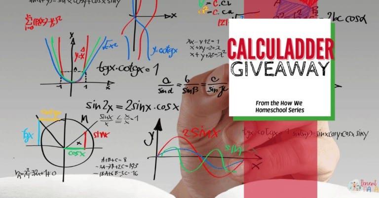 How We Homeschool Series CalcuLadder Giveaway