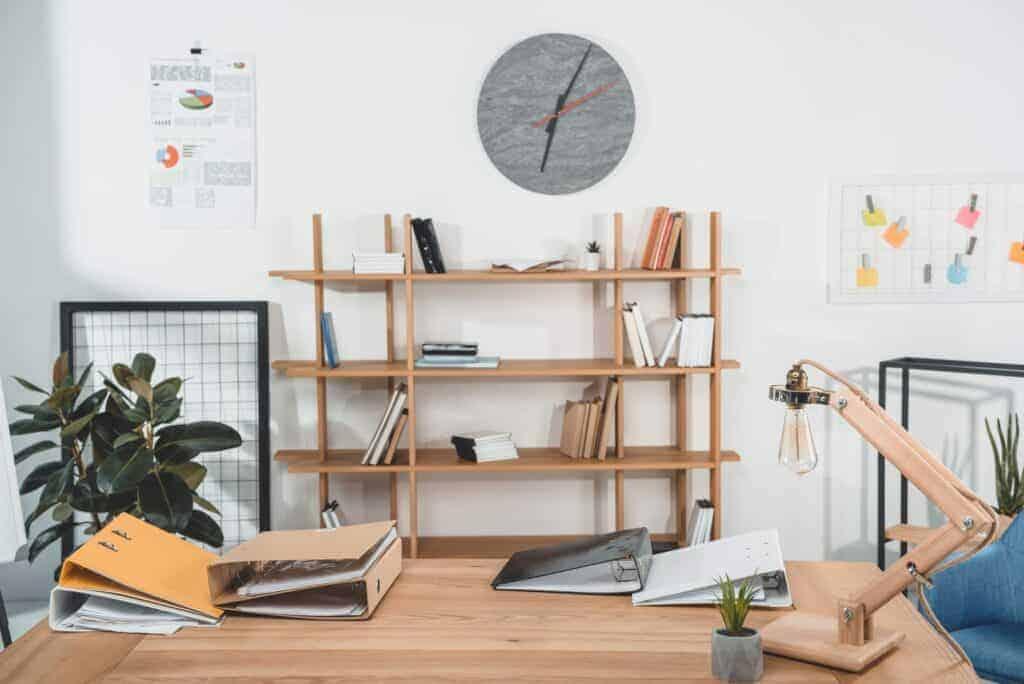modern school room, homeschool organization