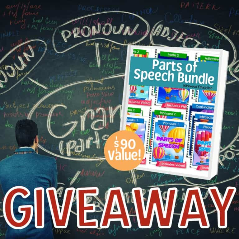 Parts of Speech Bundle from Kirkwood Education Giveaway