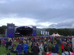 The No.6 Stage between sets on Friday evening