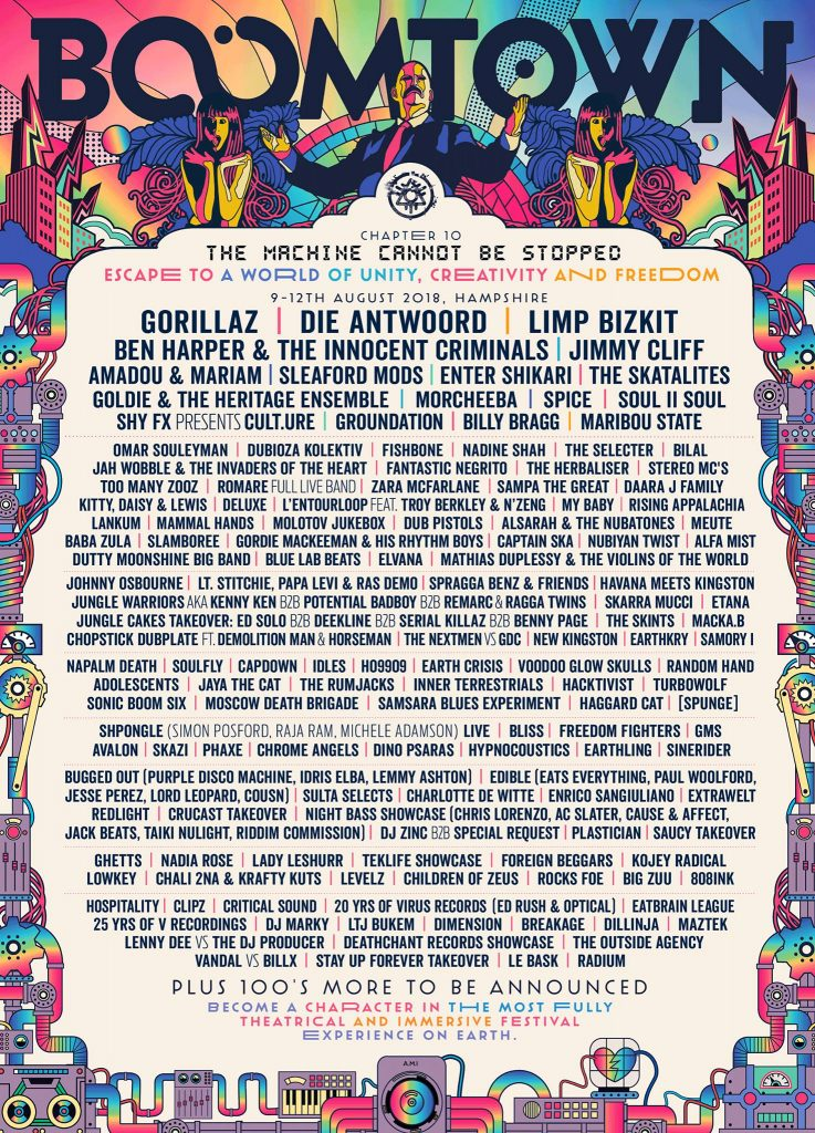Boomtown 2018 Lineup Poster