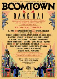 Boomtown Chapter 10 2018 Diss-order Alley Line-up Poster: Banghai