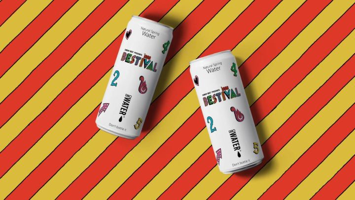 Bestival Water Cans