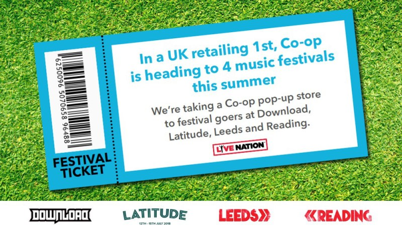 Co-op festival stores ticket