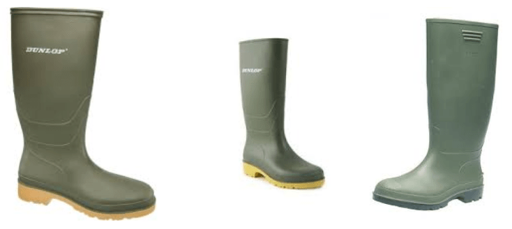Dunlop traditional green wellies