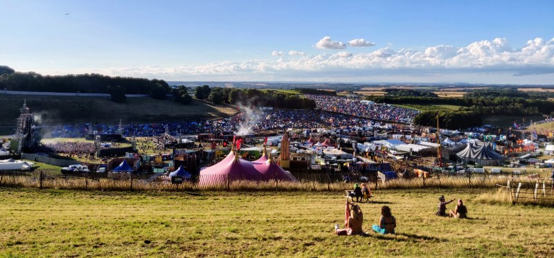 Looking over Downtown from Whistlers Green at Boomtown 2018