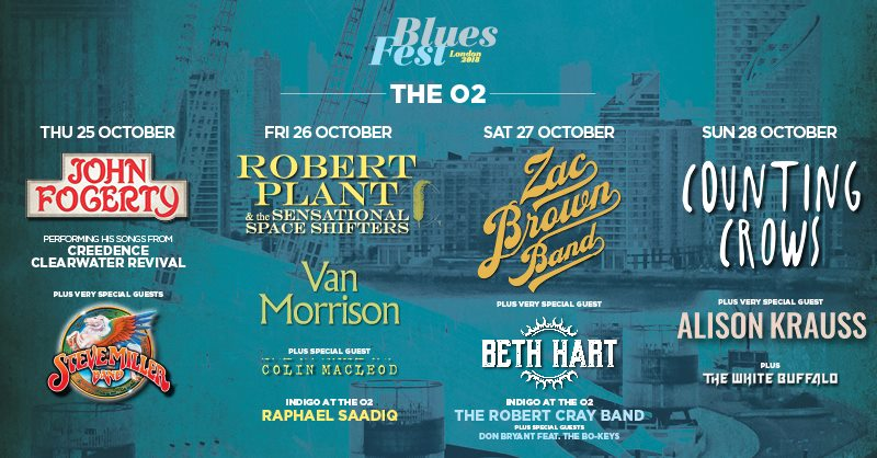 BluesFest at the o2 Arena set for its biggest ever line-up