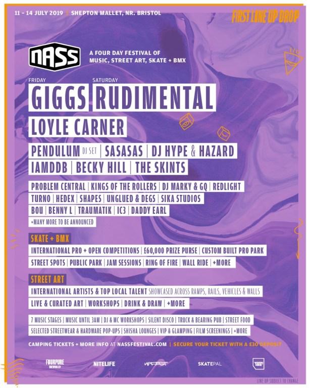 NASS 2019 Line-up Poster