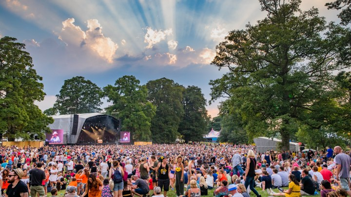 Kendal Calling main stage cool sky
