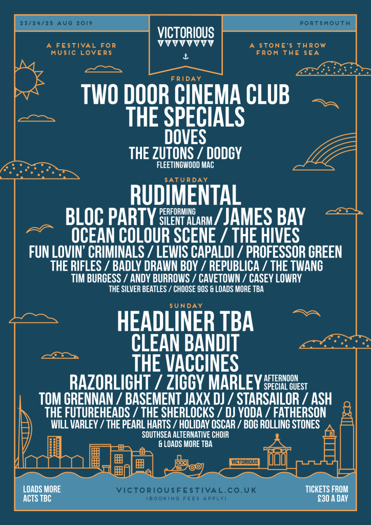 Victorious Festival 2019 Line-up Poster