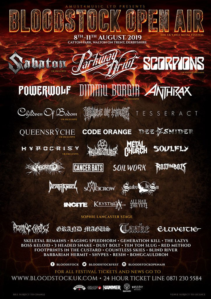 Bloodstock 2019 Line-up Poster
