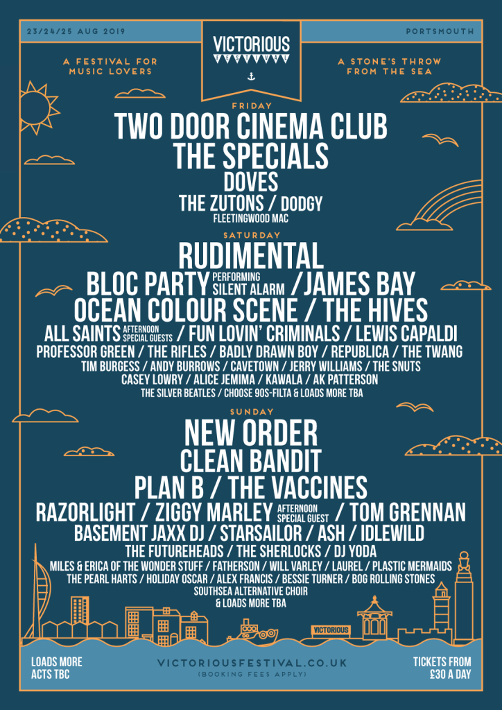 Victorious Festival line-up poster