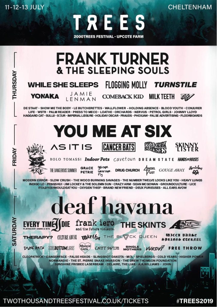 2000trees line-up poster