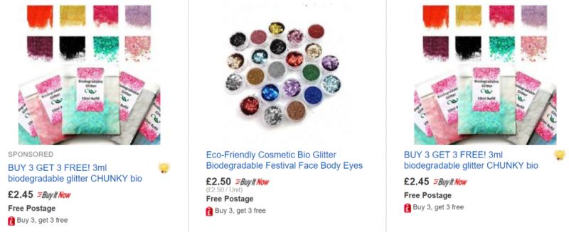 Biodegradable glitter on eBay