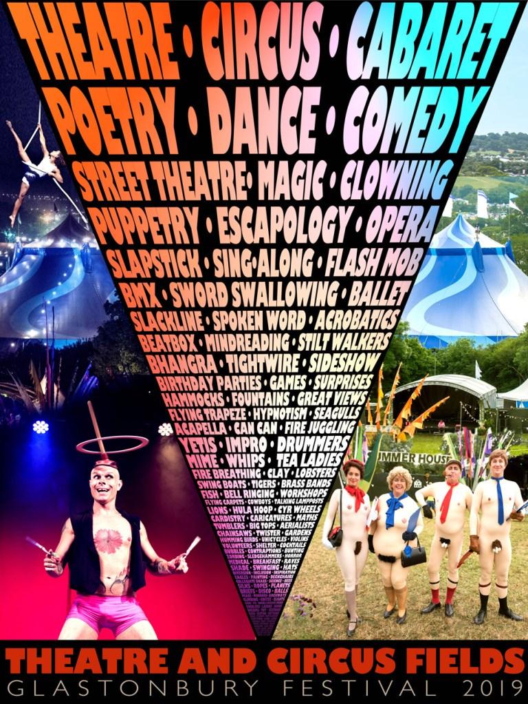 Glastonbury 2019 Theatre & Circus line-up poster