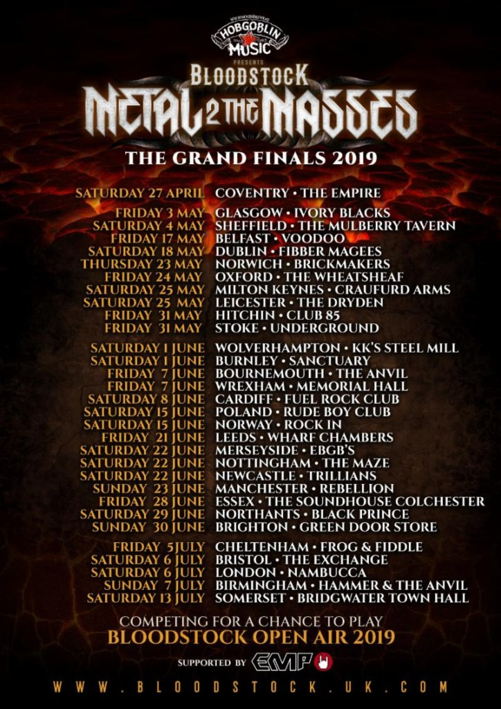 Bloodstock Metal to the Masses Finals Event Listing Poster