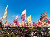 West Holts Stage Flags Glastonbury 2017