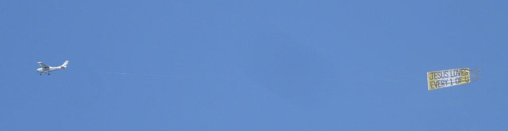 FlyJesus plane over Download Festival 2018