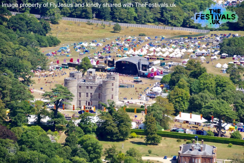 Bestival 2018 Aerial Photo Main Stage Castle