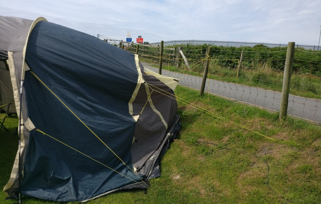 Broken tent at Barmouth