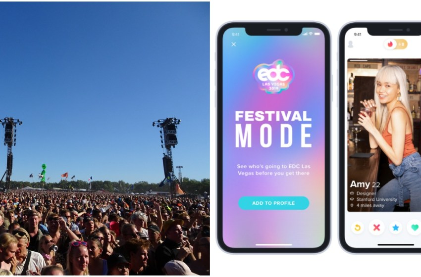 Tinder's new 'Festival Mode' coming to four UK festivals this summer