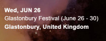 Diplo tour website Glastonbury