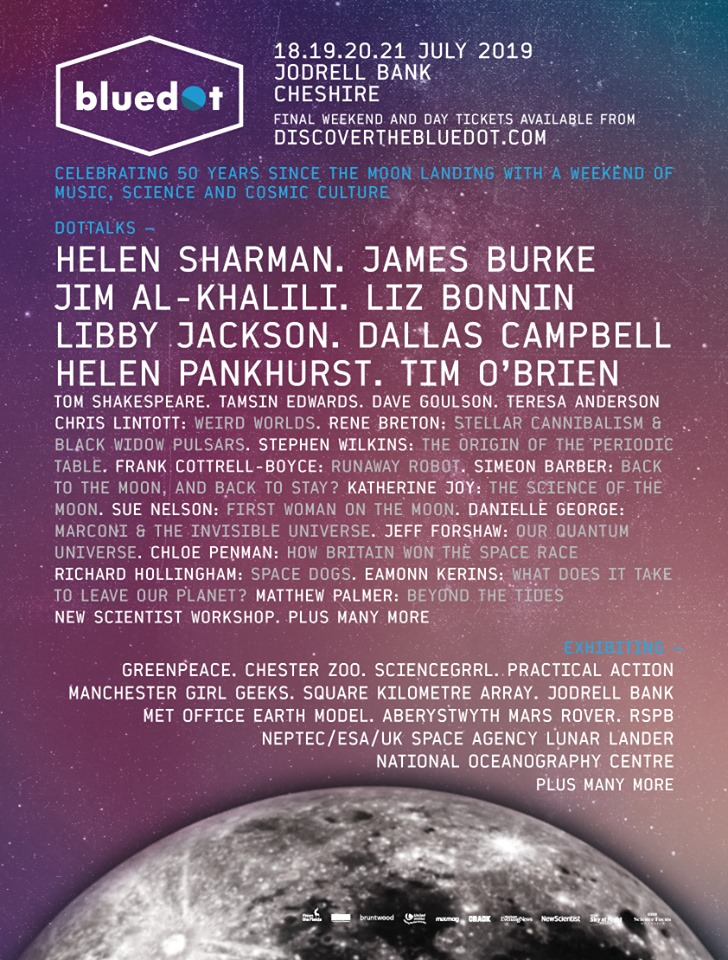 bluedot 2019 science line-up poster